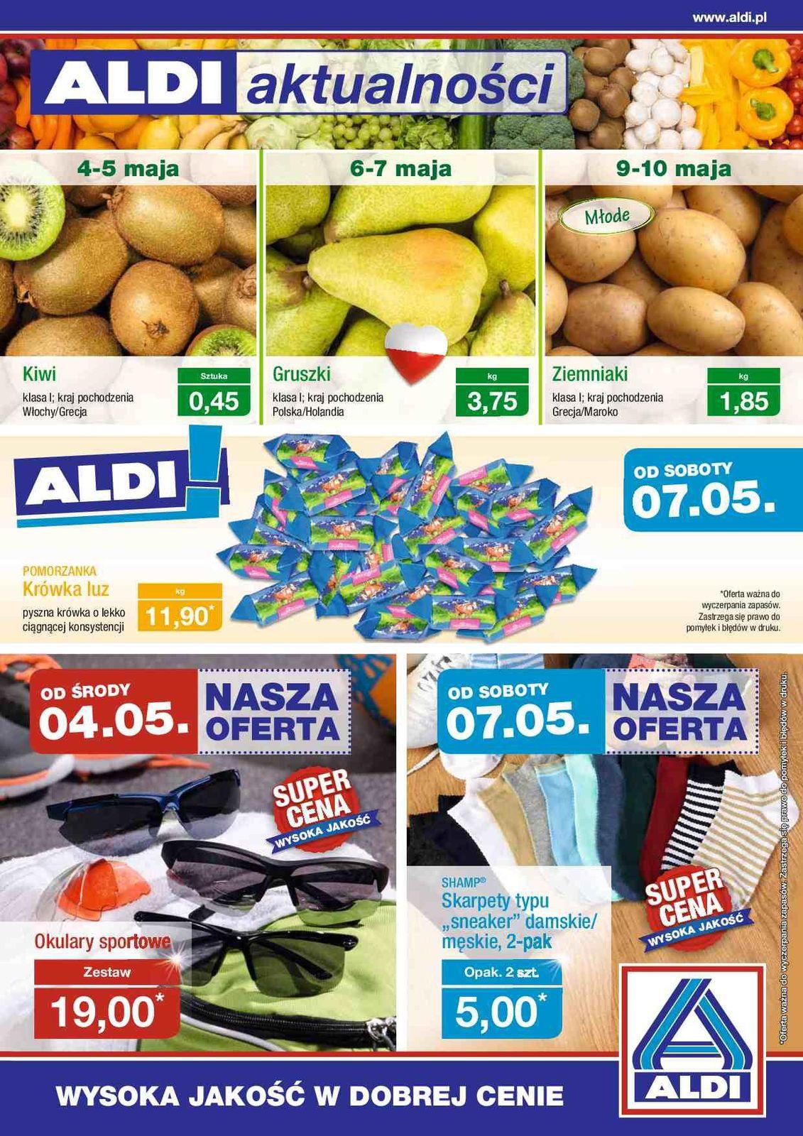 Gazetka promocyjna ALDI do 08/05/2016 str.0