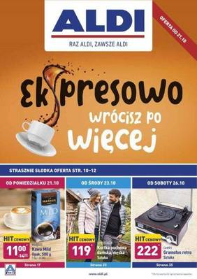 ALDI gazetka - od 21/10/2019 do 27/10/2019