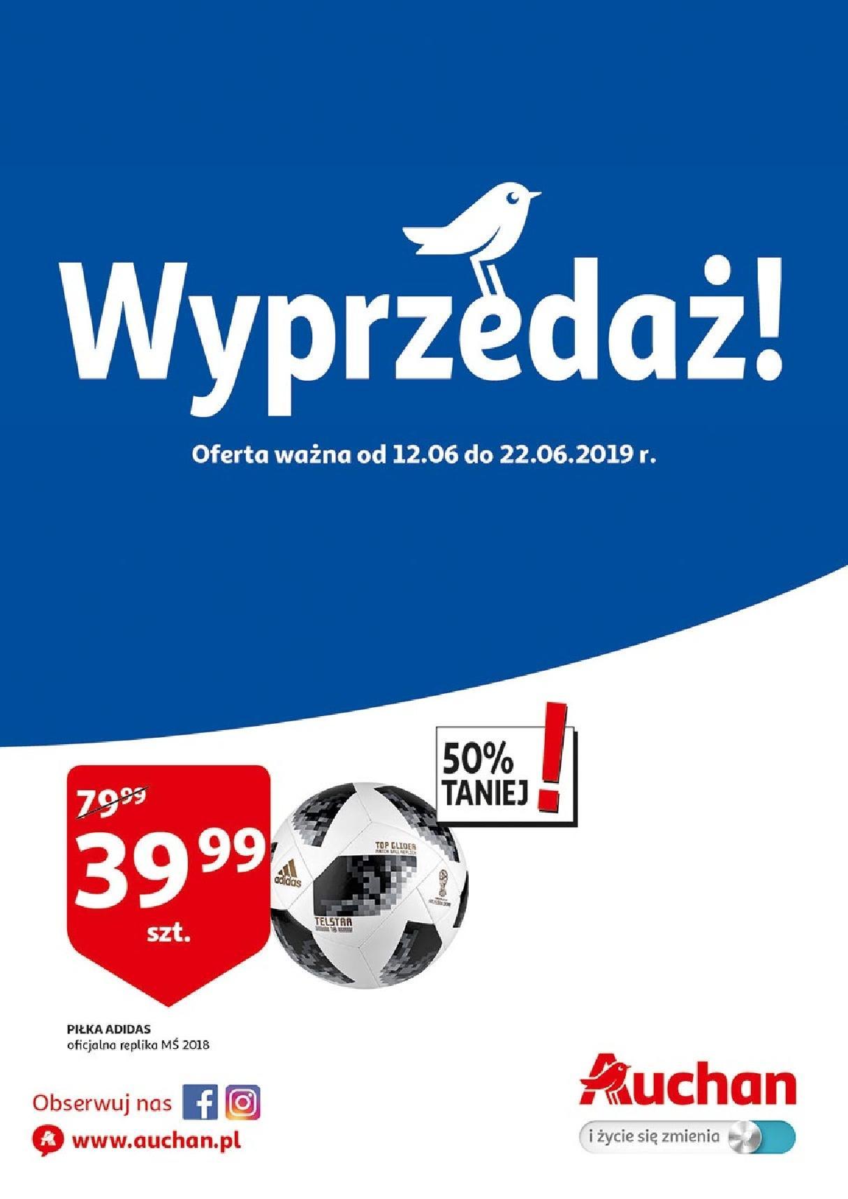 Gazetka promocyjna Auchan do 22/06/2019 str.1