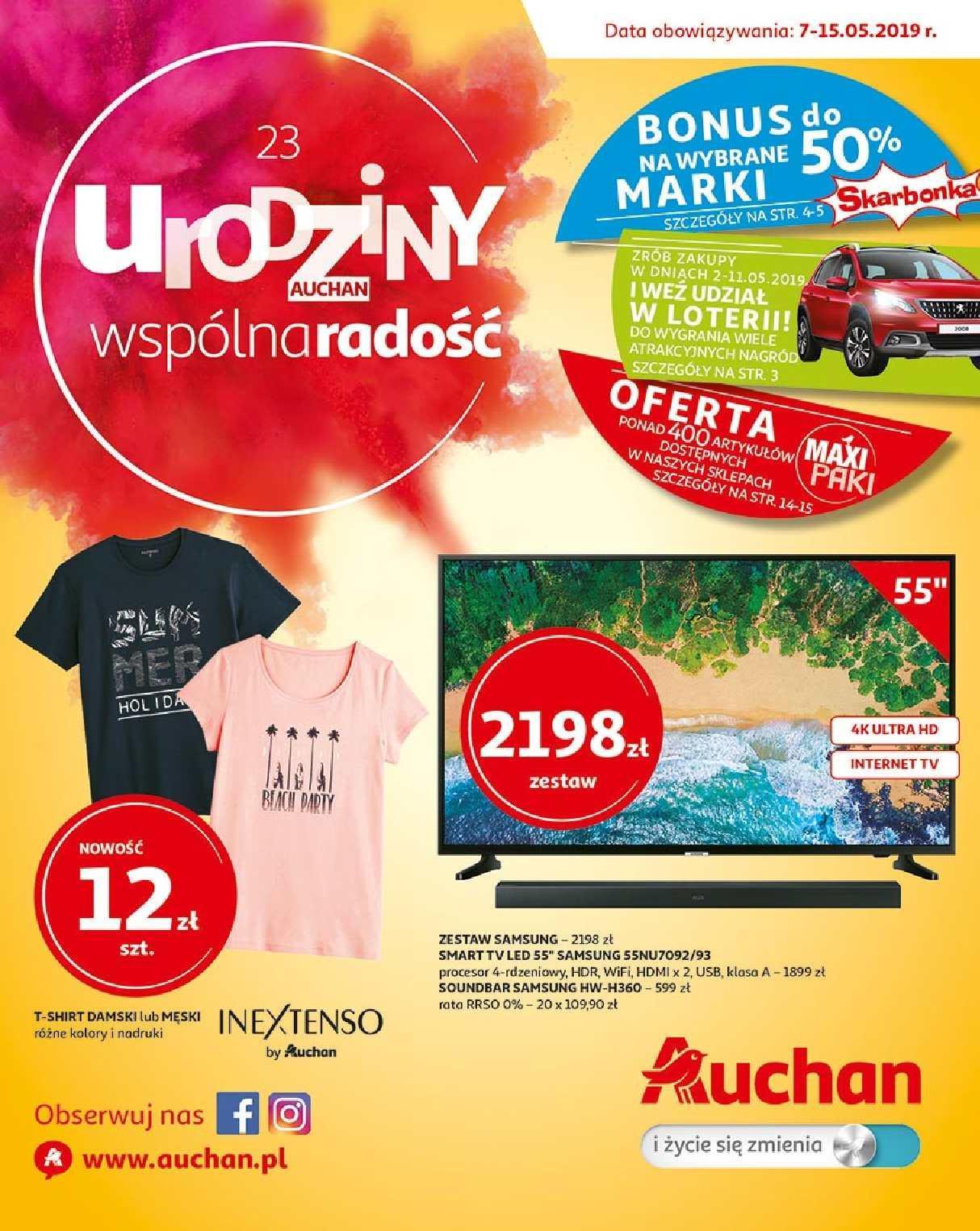 Gazetka promocyjna Auchan do 15/05/2019 str.0