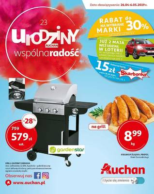 Auchan gazetka - od 26/04/2019 do 06/05/2019