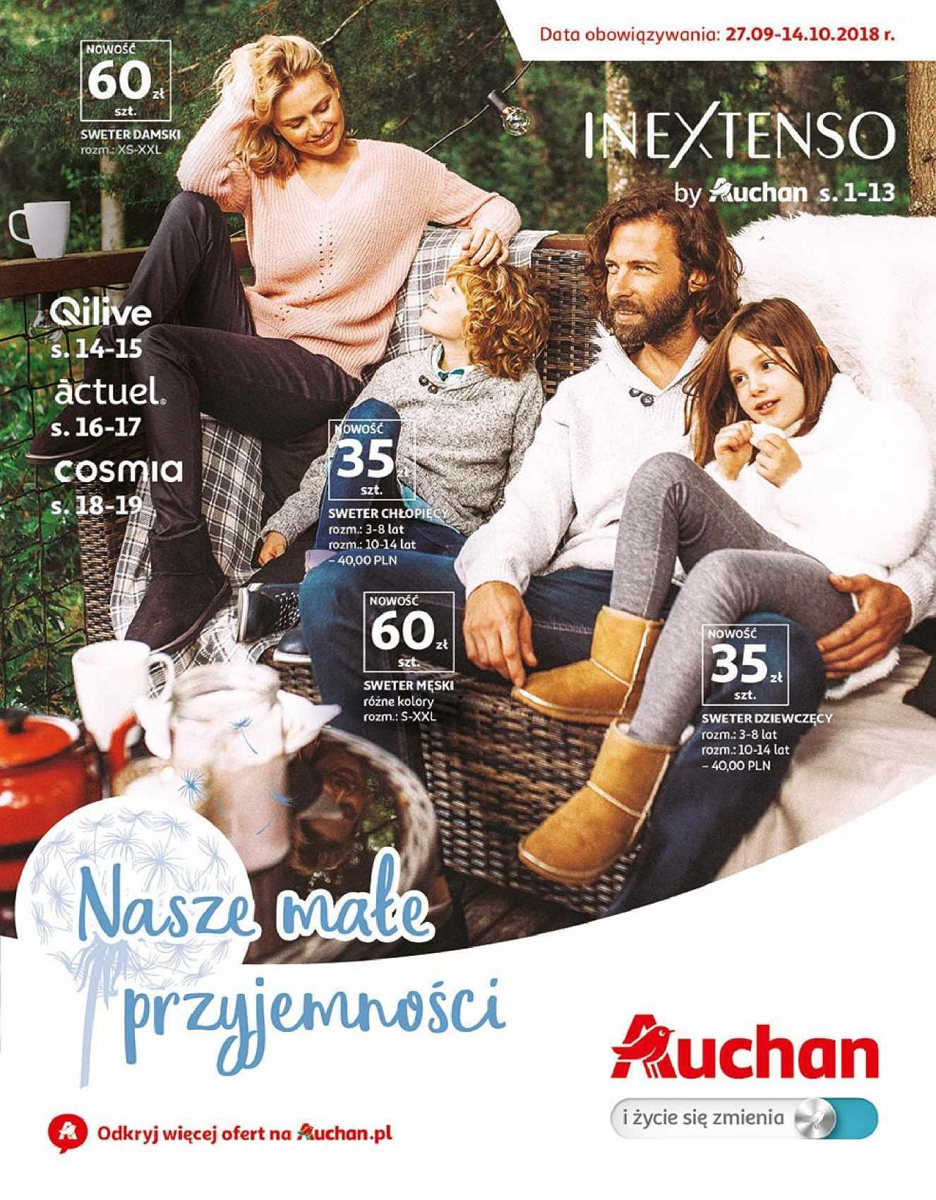 Gazetka promocyjna Auchan do 14/10/2018 str.1