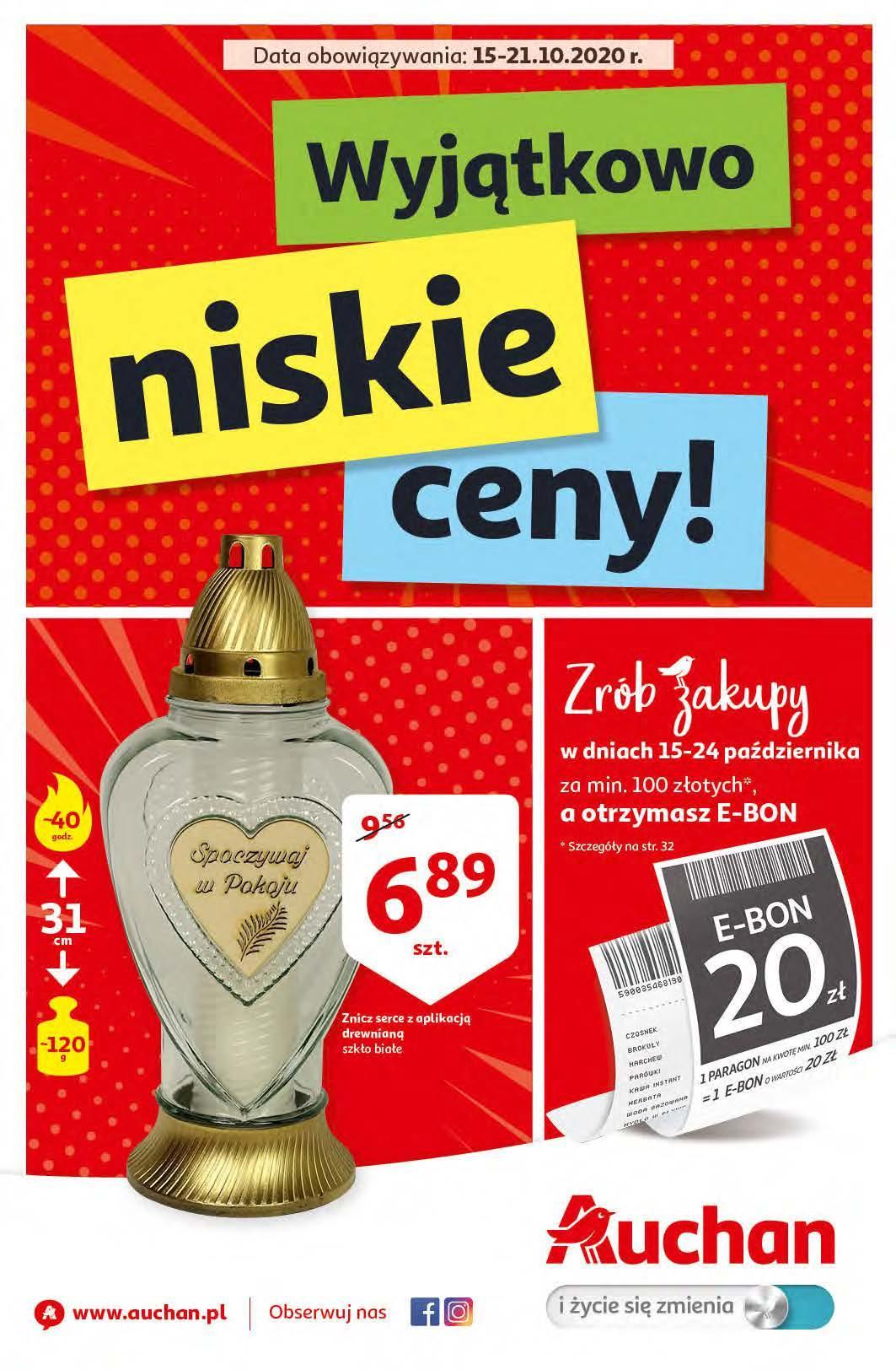 Gazetka promocyjna Auchan do 21/10/2020 str.0