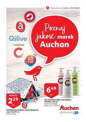 Auchan gazetka - od 14/03/2019 do 27/03/2019