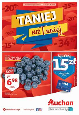 Auchan gazetka - od 21/05/2020 do 27/05/2020