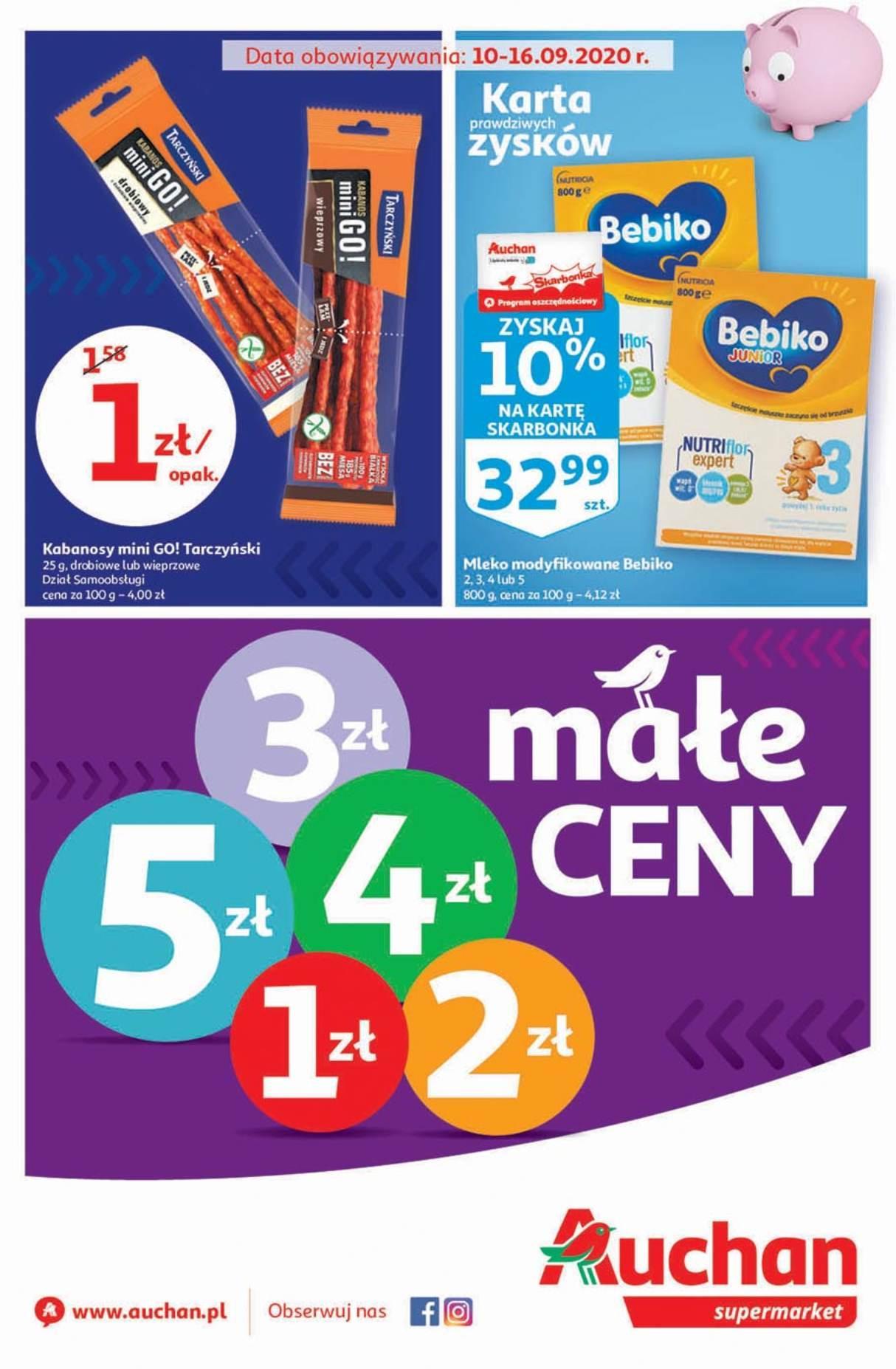 Gazetka promocyjna Auchan do 16/09/2020 str.1