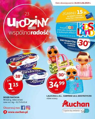 Auchan gazetka - od 24/05/2019 do 01/06/2019