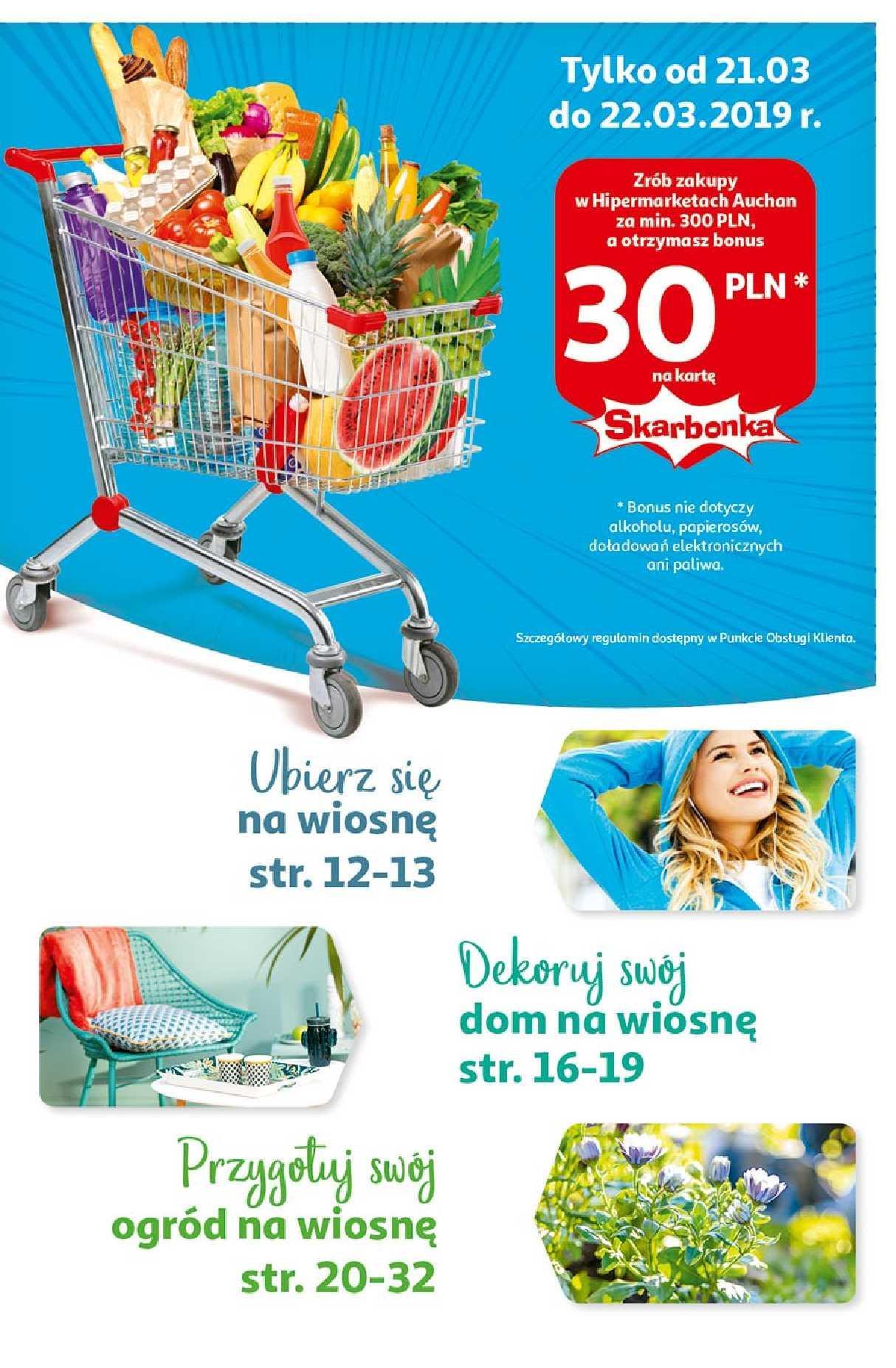Gazetka promocyjna Auchan do 31/03/2019 str.1