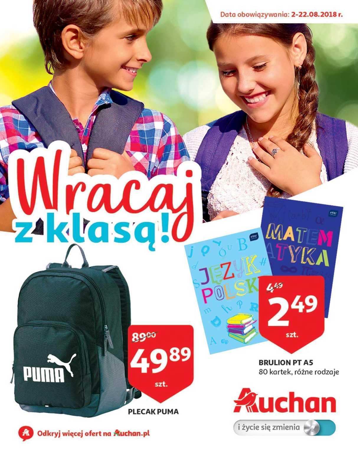 Gazetka promocyjna Auchan do 22/08/2018 str.0