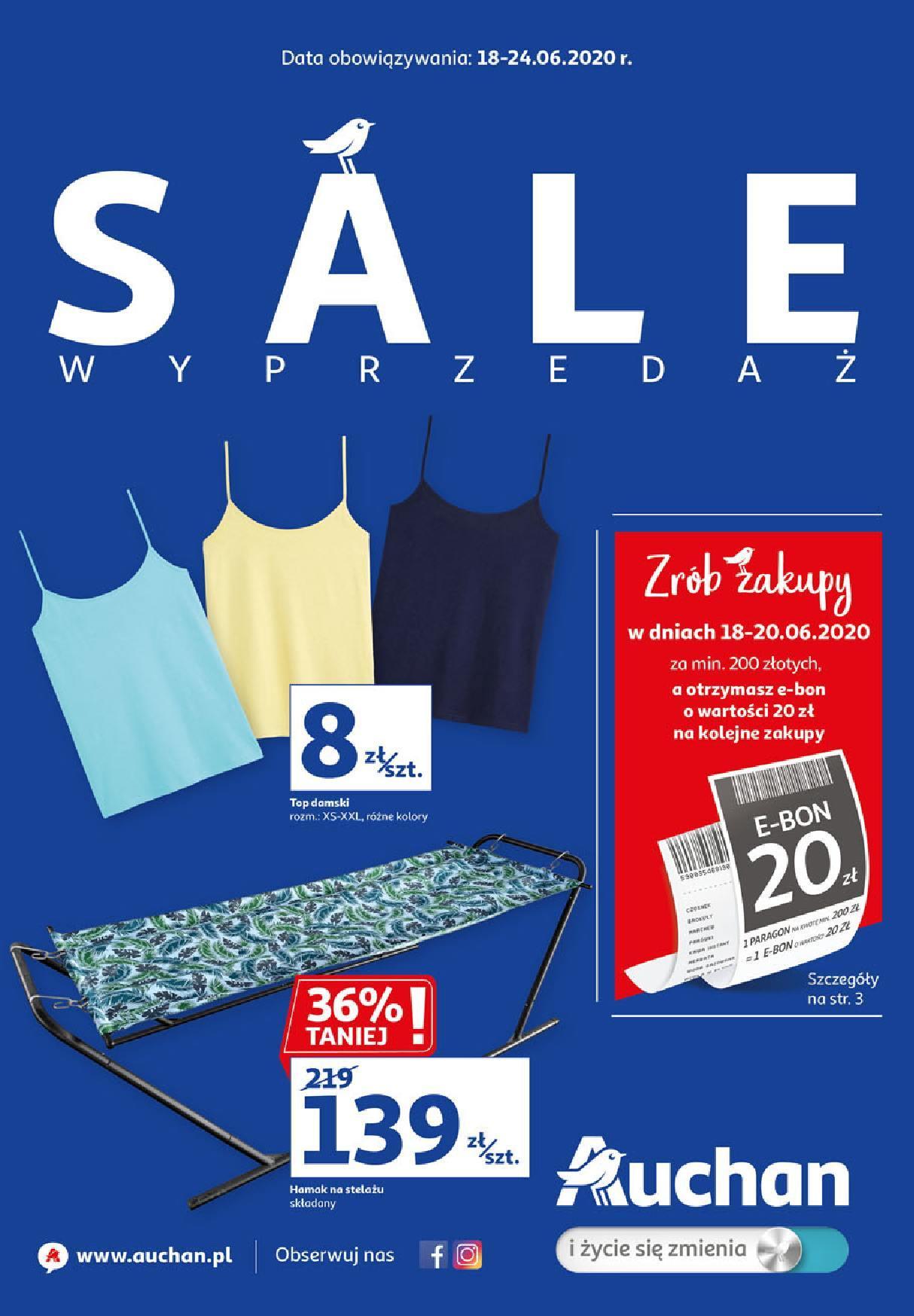 Gazetka promocyjna Auchan do 24/06/2020 str.0