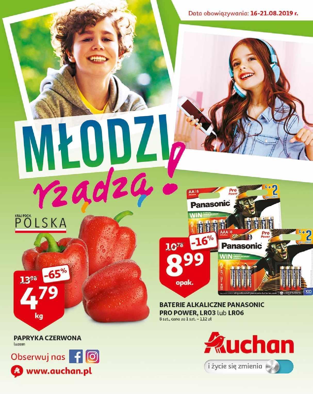 Gazetka promocyjna Auchan do 21/08/2019 str.1