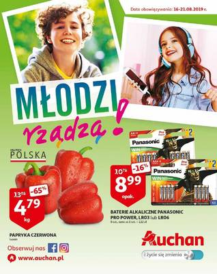 Auchan gazetka - od 16/08/2019 do 21/08/2019