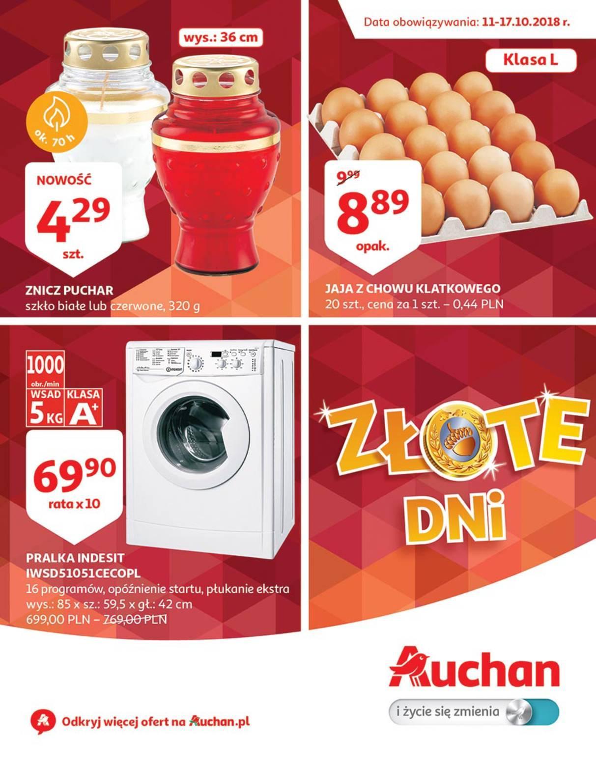 Gazetka promocyjna Auchan do 17/10/2018 str.0