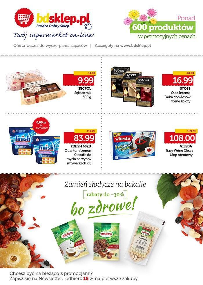 Gazetka promocyjna bdsklep.pl do 15/04/2016 str.1