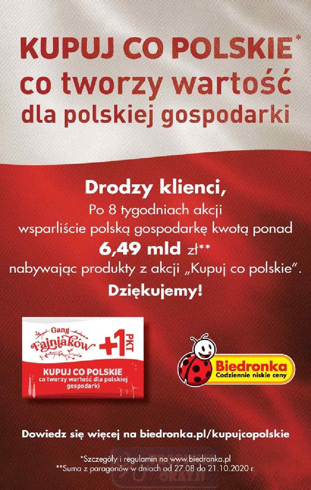 Gazetka promocyjna Biedronka do 31/10/2020 str.56