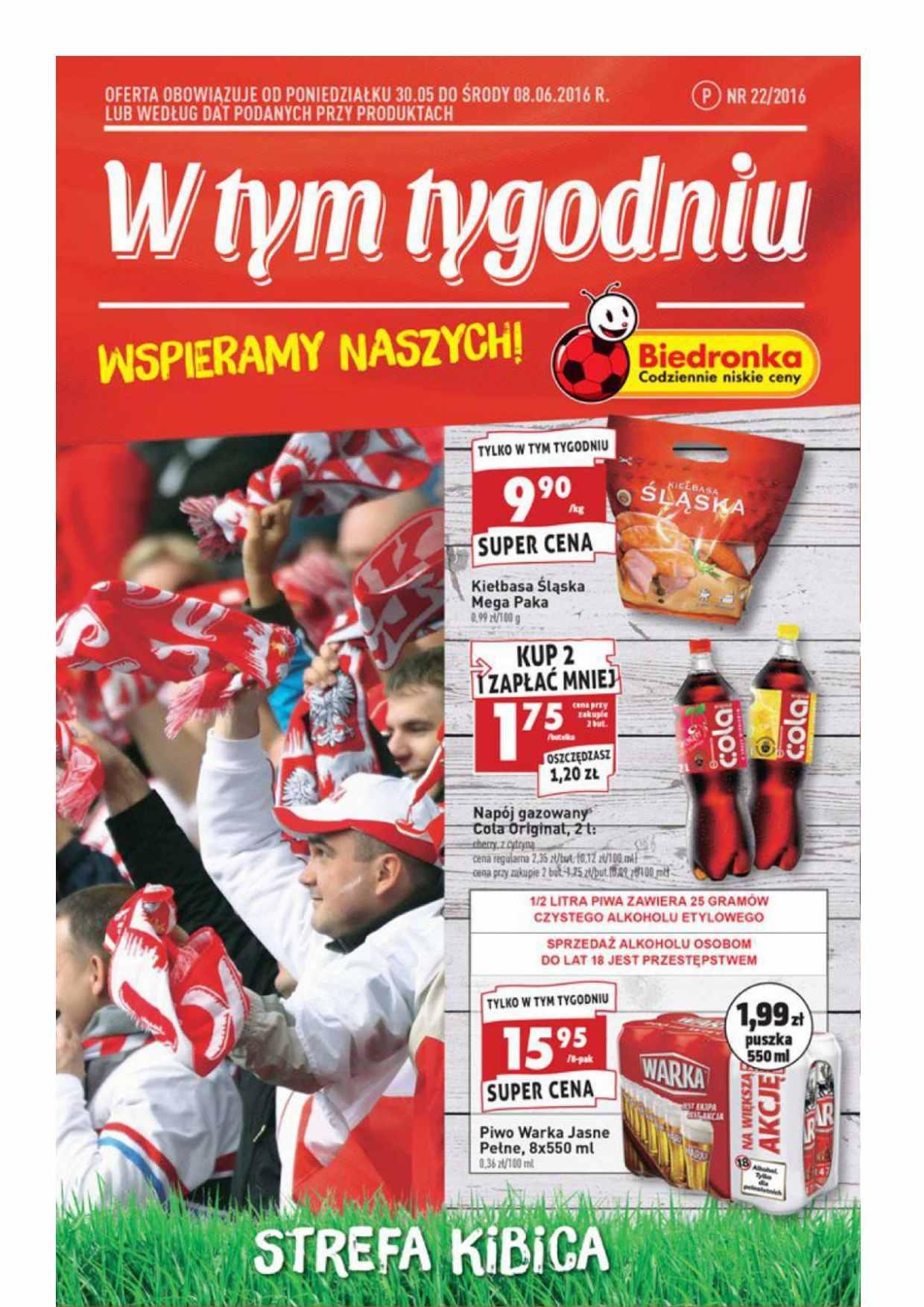 Gazetka promocyjna Biedronka do 08/06/2016 str.0