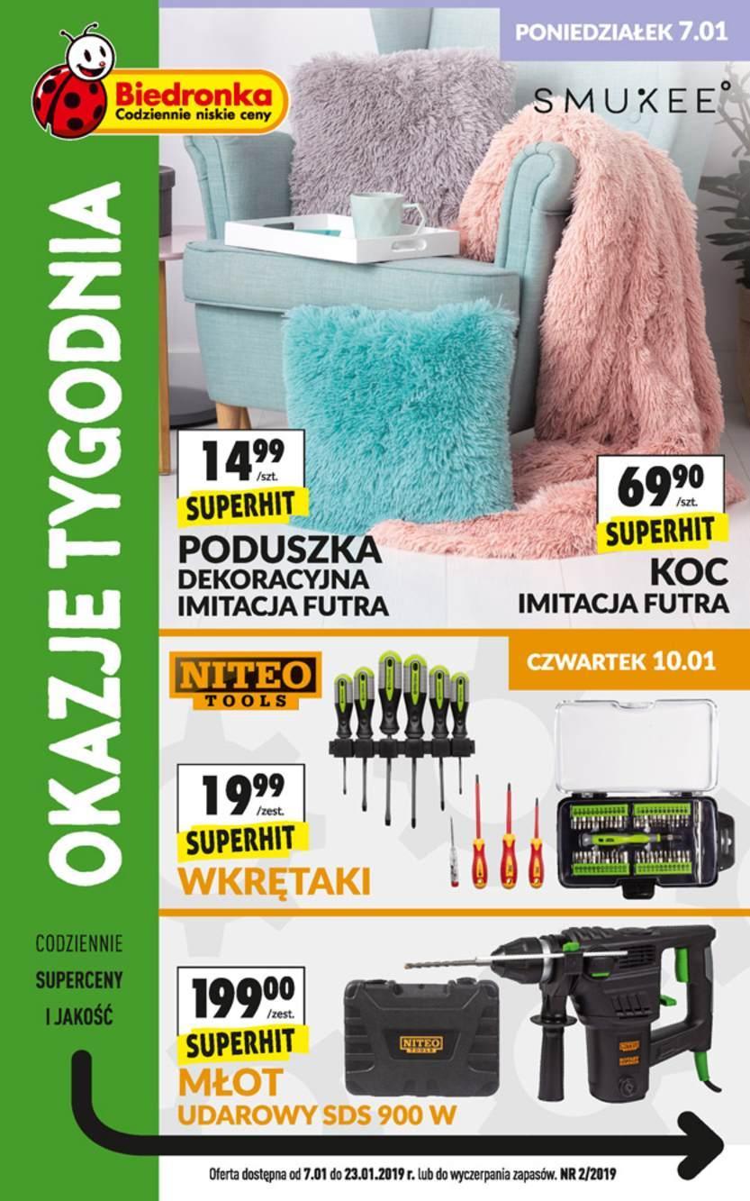 Gazetka promocyjna Biedronka do 23/01/2019 str.0
