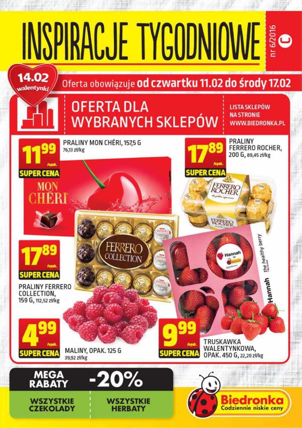 Gazetka promocyjna Biedronka do 17/02/2016 str.0