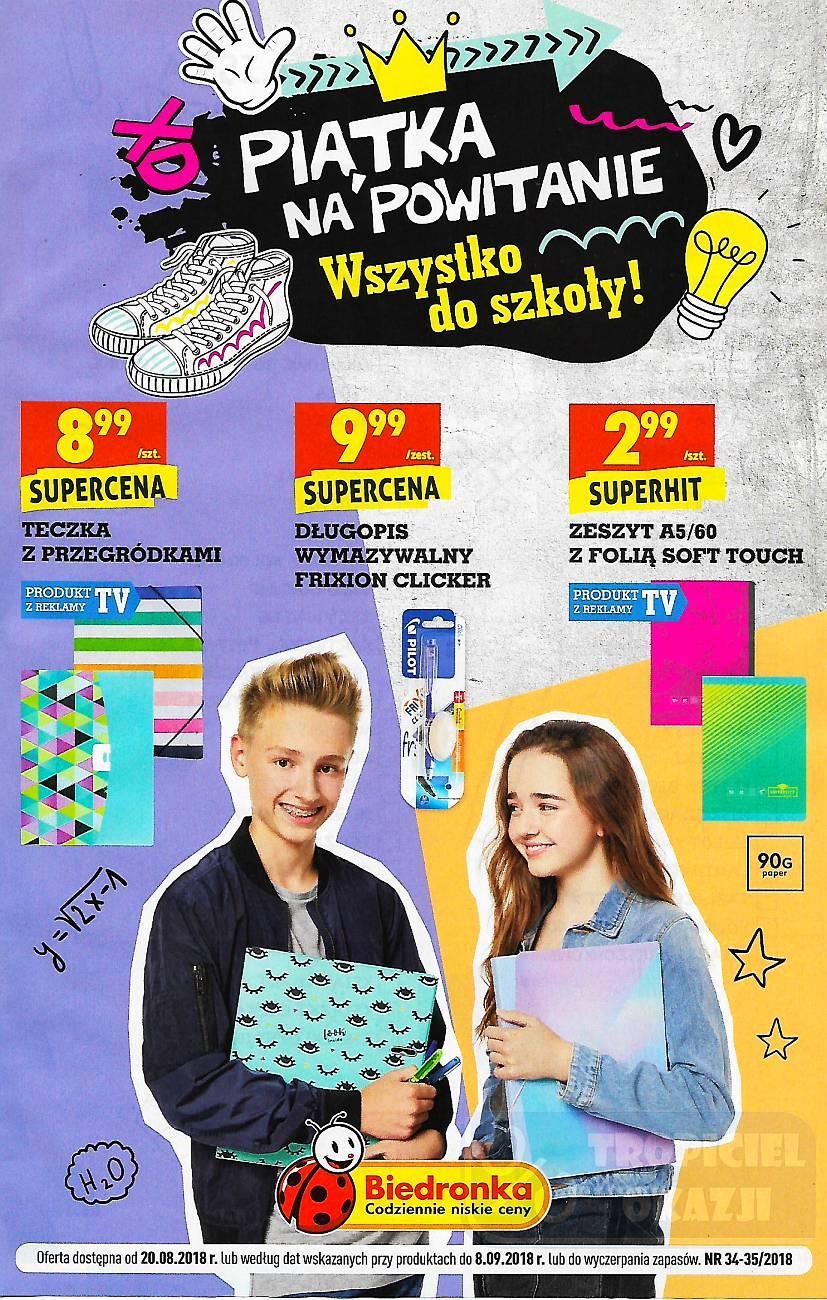 Gazetka promocyjna Biedronka do 08/09/2018 str.1