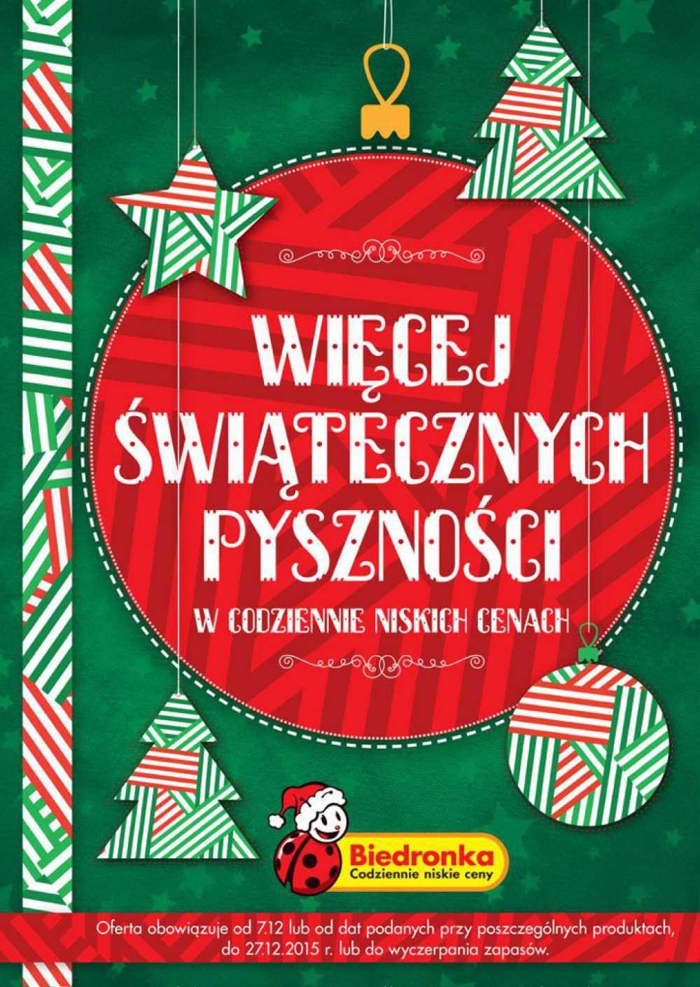 Gazetka promocyjna Biedronka do 27/12/2015 str.0
