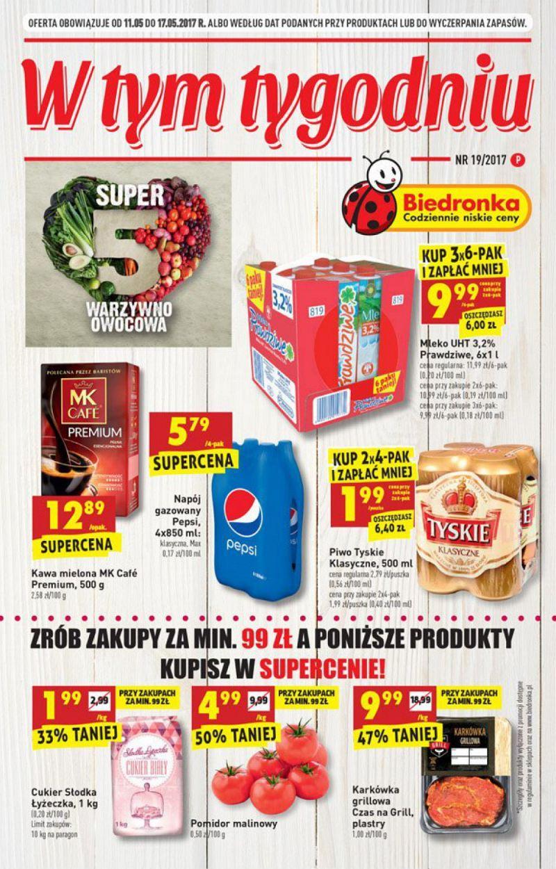 Gazetka promocyjna Biedronka do 17/05/2017 str.0
