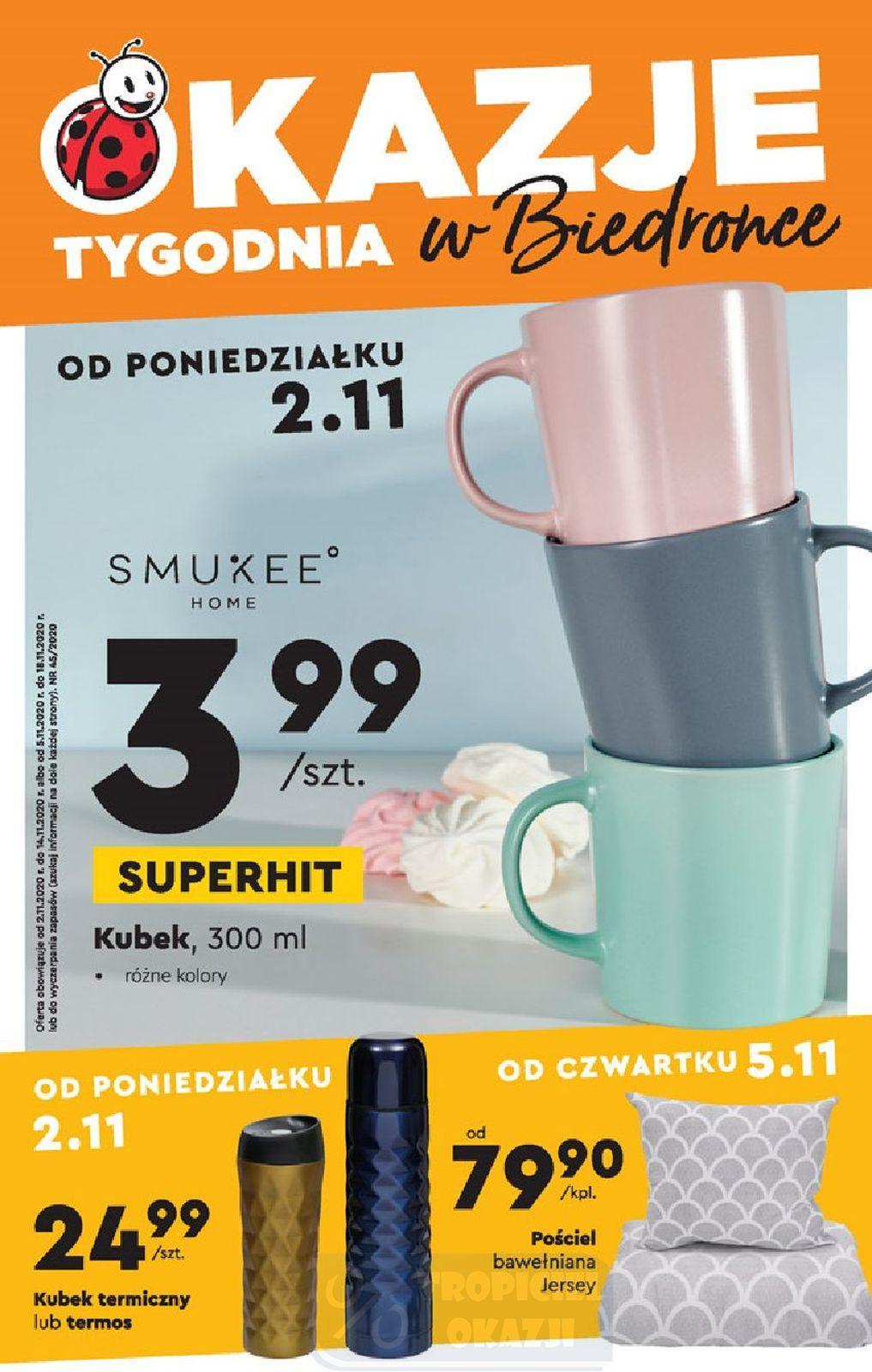 Gazetka promocyjna Biedronka do 18/11/2020 str.1