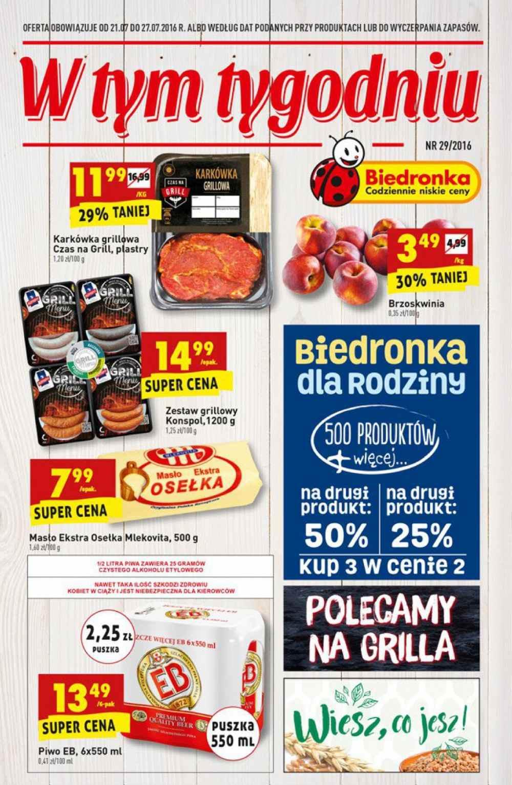 Gazetka promocyjna Biedronka do 27/07/2016 str.0
