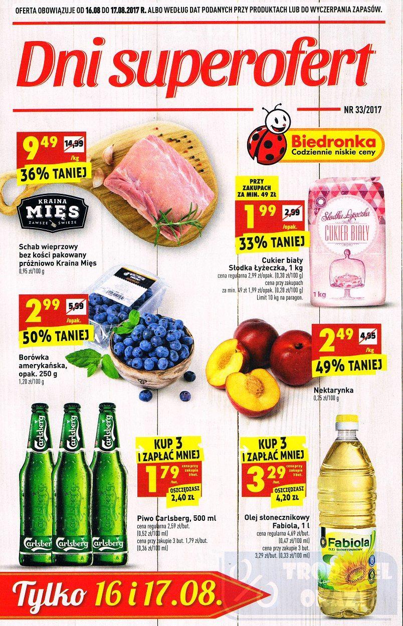 Gazetka promocyjna Biedronka do 17/08/2017 str.0