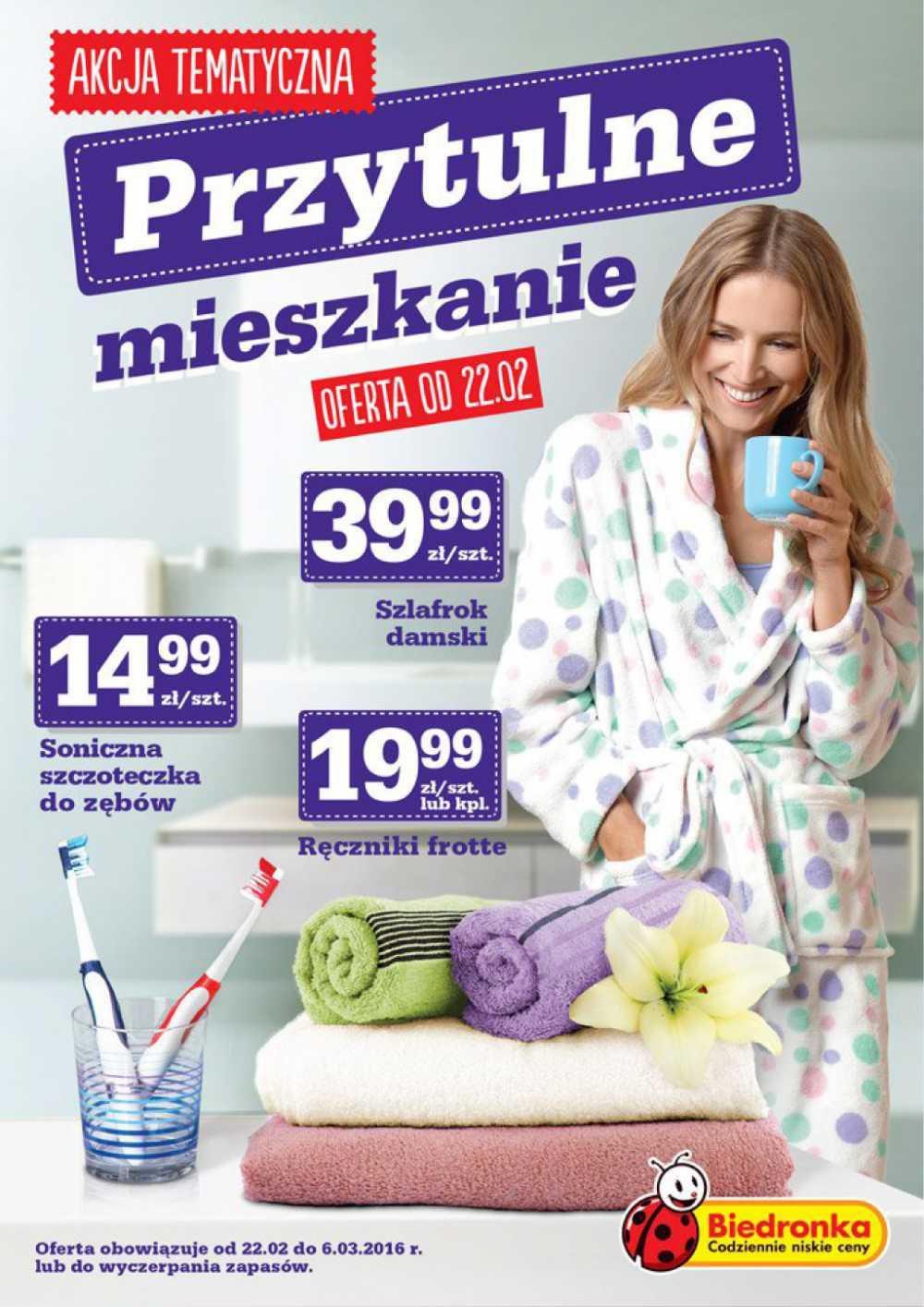 Gazetka promocyjna Biedronka do 06/03/2016 str.0