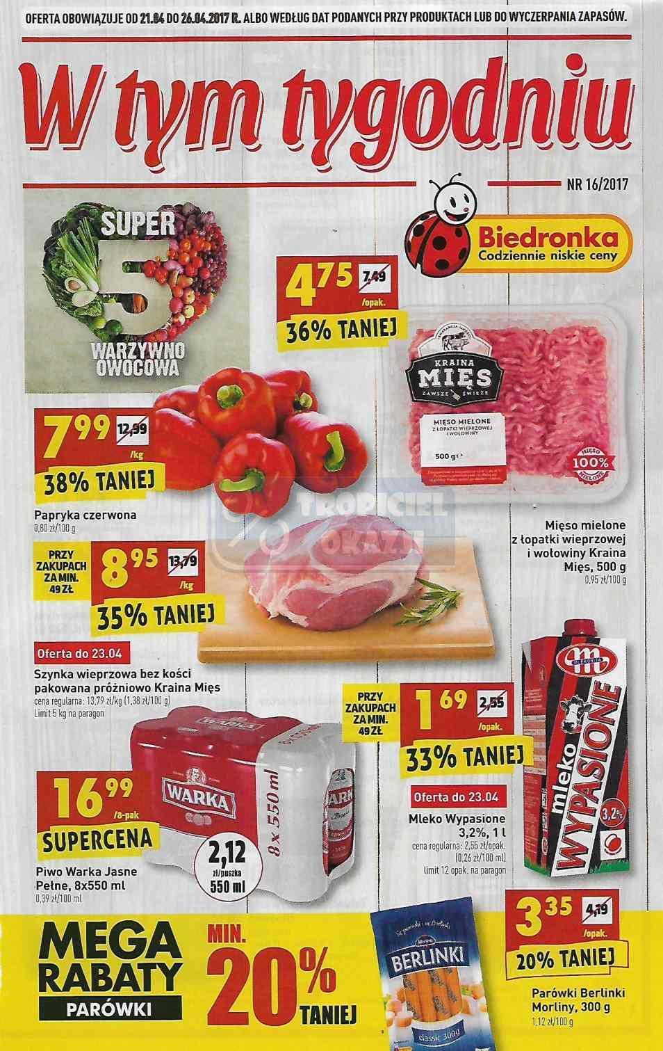 Gazetka promocyjna Biedronka do 26/04/2017 str.0