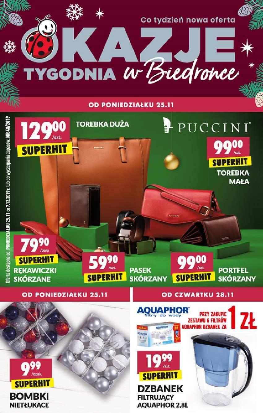 Gazetka promocyjna Biedronka do 07/12/2019 str.1