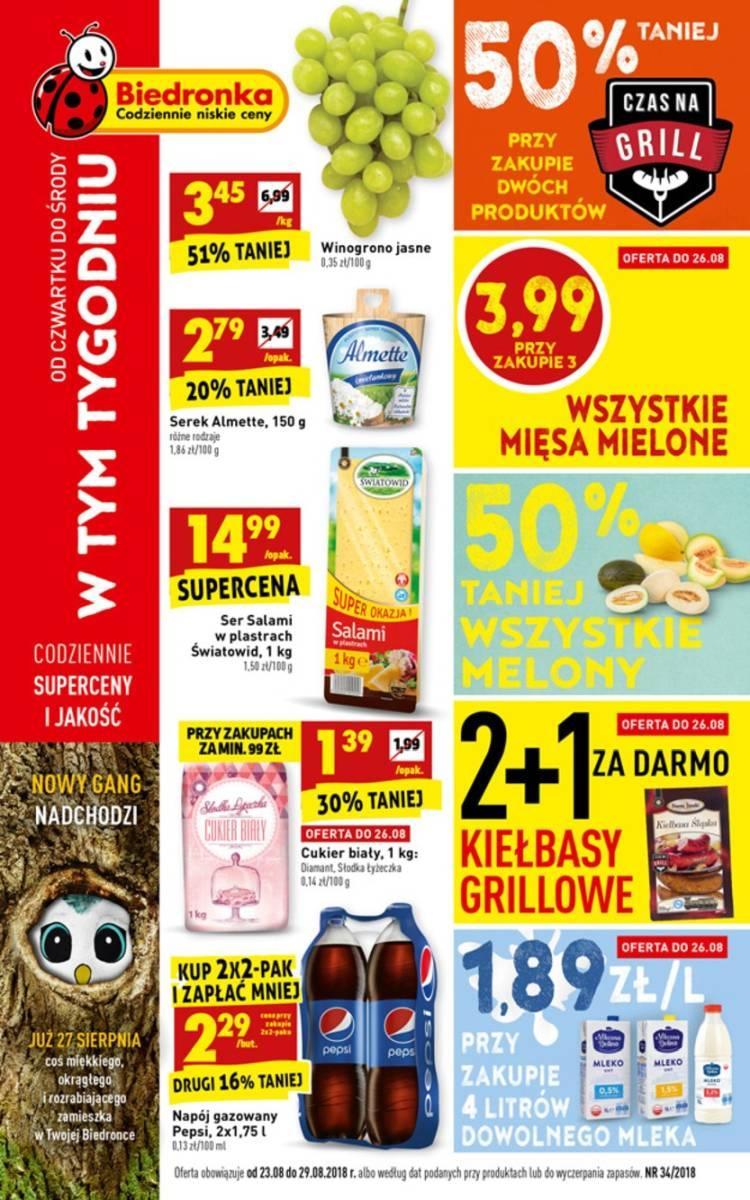 Gazetka promocyjna Biedronka do 29/08/2018 str.0