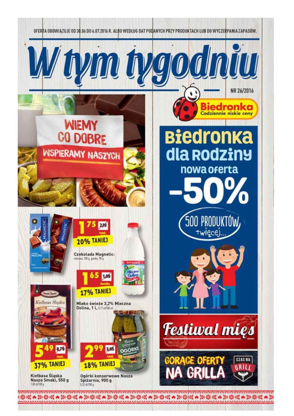 Gazetka promocyjna Biedronka do 06/07/2016 str.0