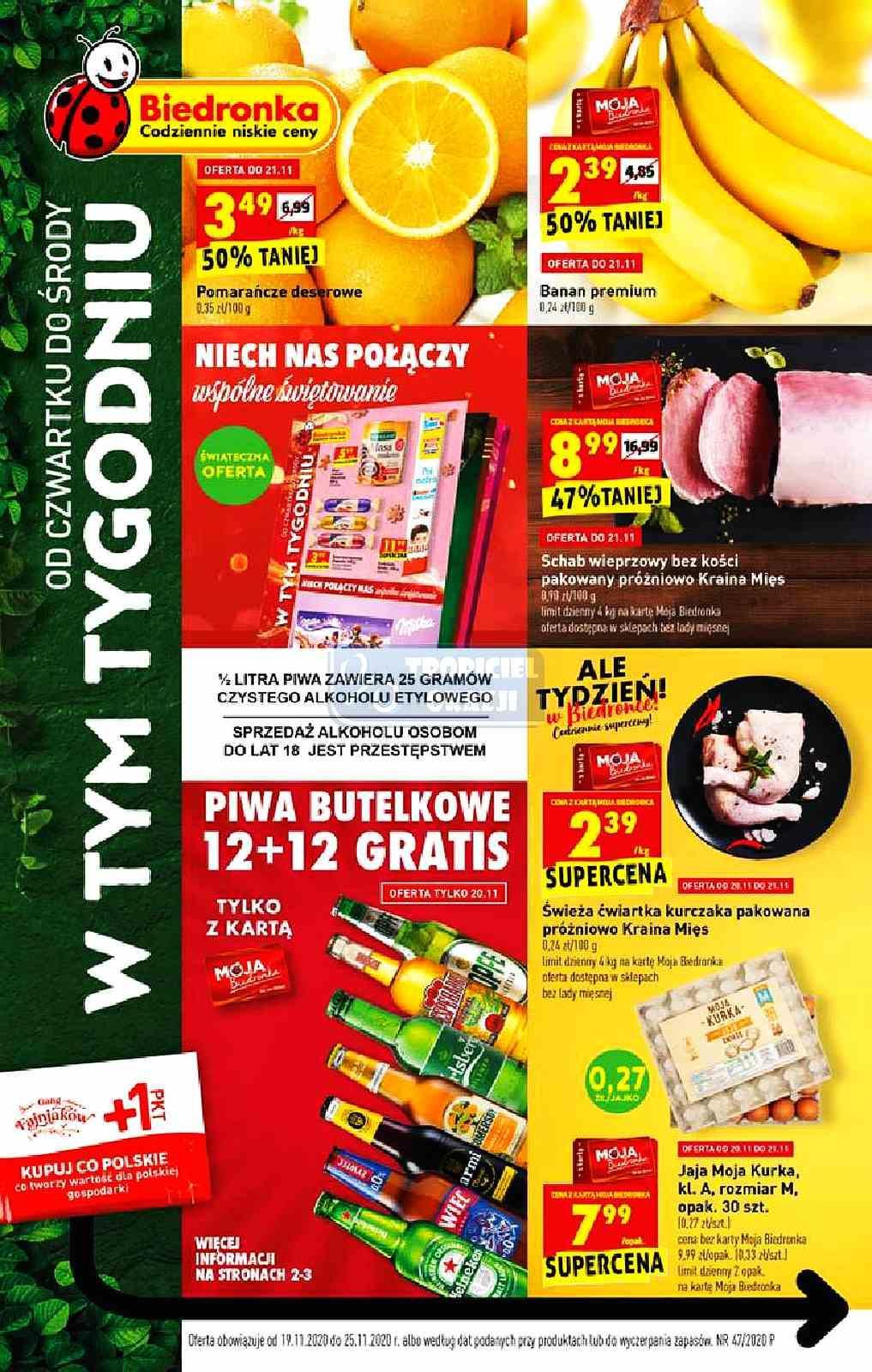Gazetka promocyjna Biedronka do 25/11/2020 str.1