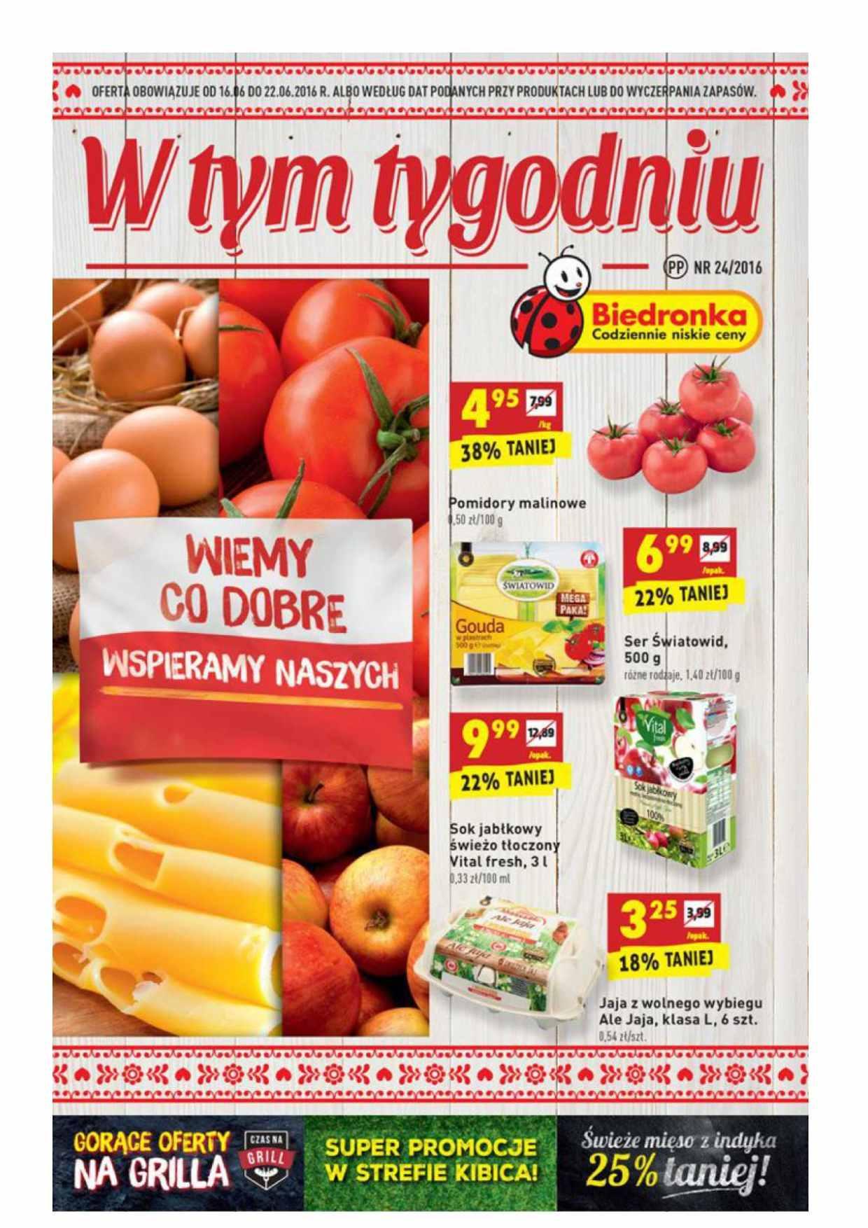 Gazetka promocyjna Biedronka do 22/06/2016 str.0