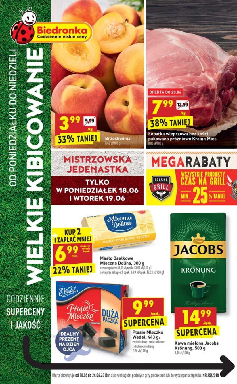Gazetka promocyjna Biedronka do 23/06/2018 str.0