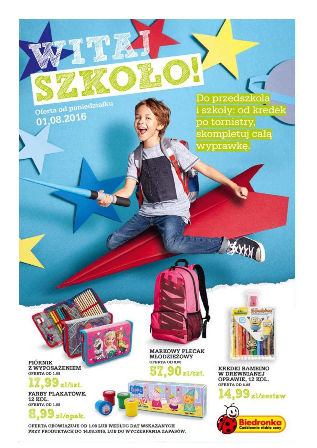Gazetka promocyjna Biedronka do 14/08/2016 str.0