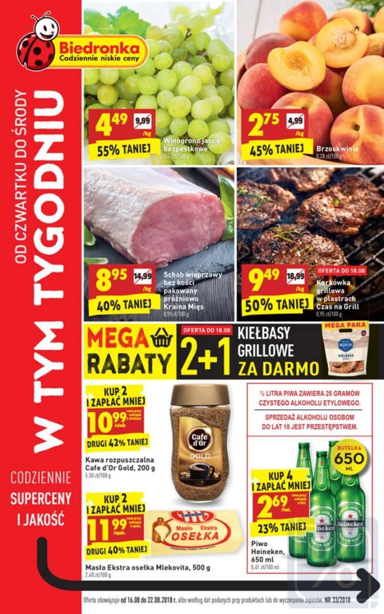 Gazetka promocyjna Biedronka do 22/08/2018 str.0