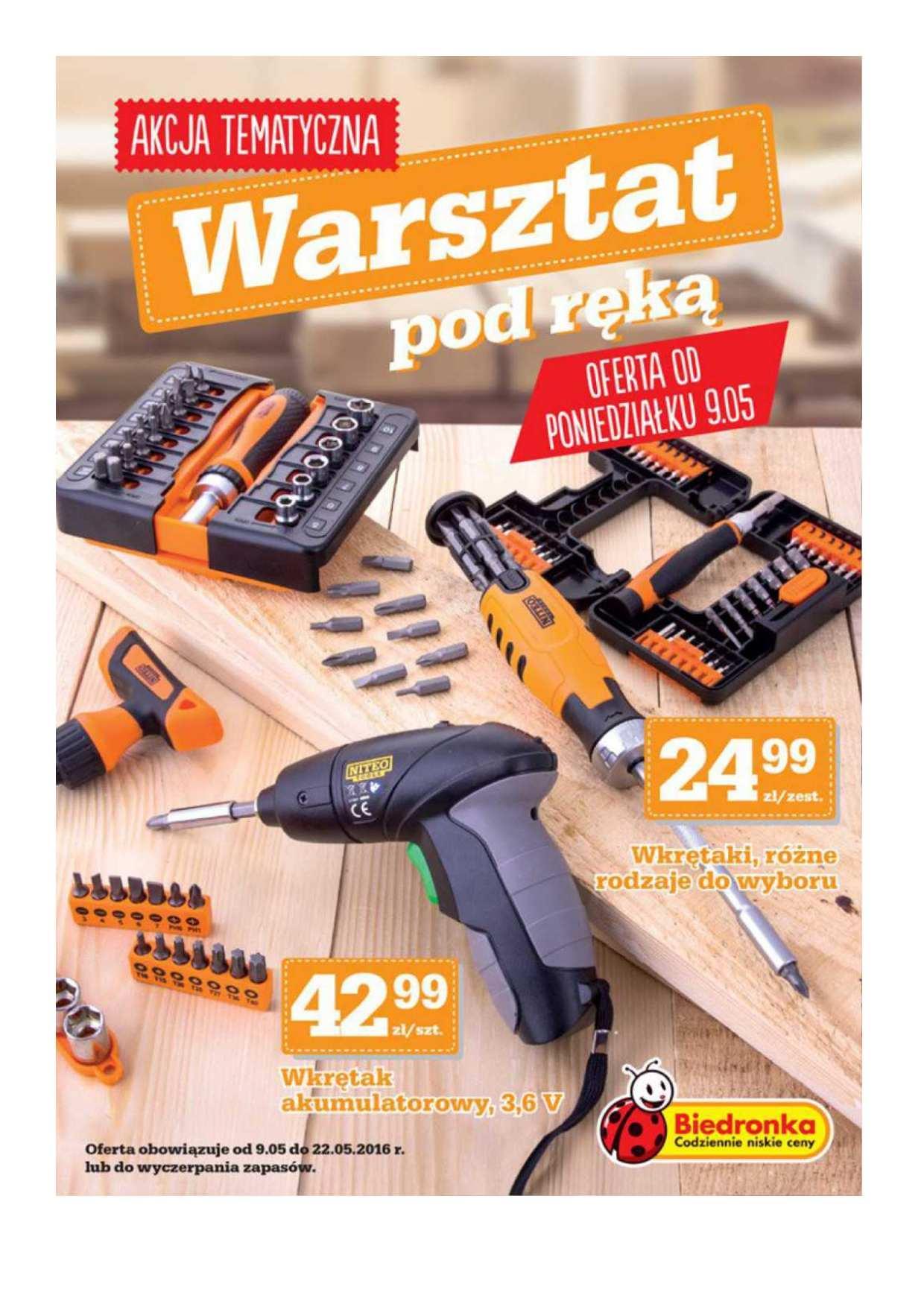 Gazetka promocyjna Biedronka do 22/05/2016 str.0