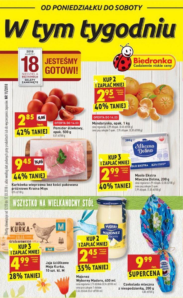Gazetka promocyjna Biedronka do 17/03/2018 str.0