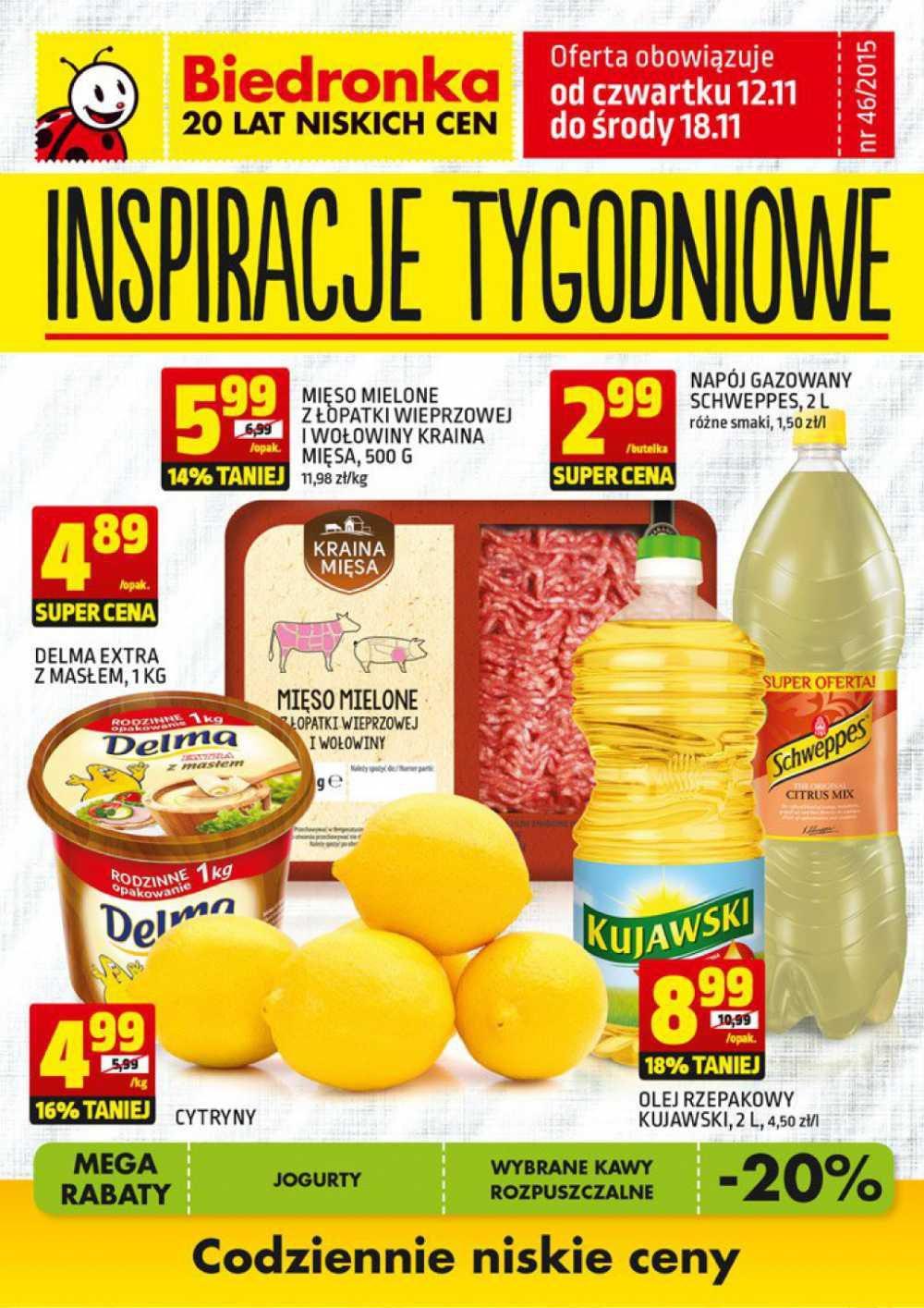 Gazetka promocyjna Biedronka do 18/11/2015 str.0