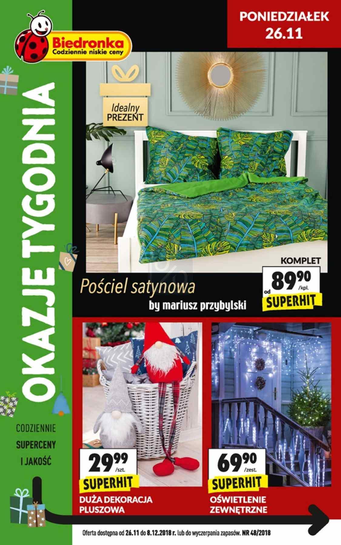 Gazetka promocyjna Biedronka do 08/12/2018 str.1