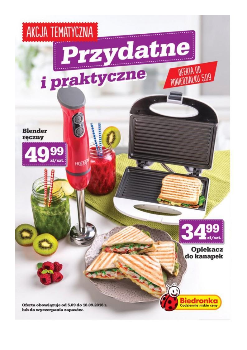 Gazetka promocyjna Biedronka do 18/09/2016 str.0