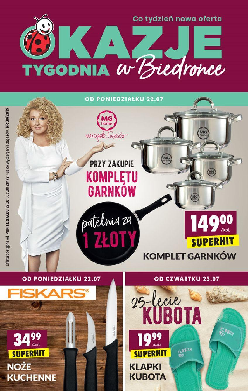 Gazetka promocyjna Biedronka do 07/08/2019 str.0