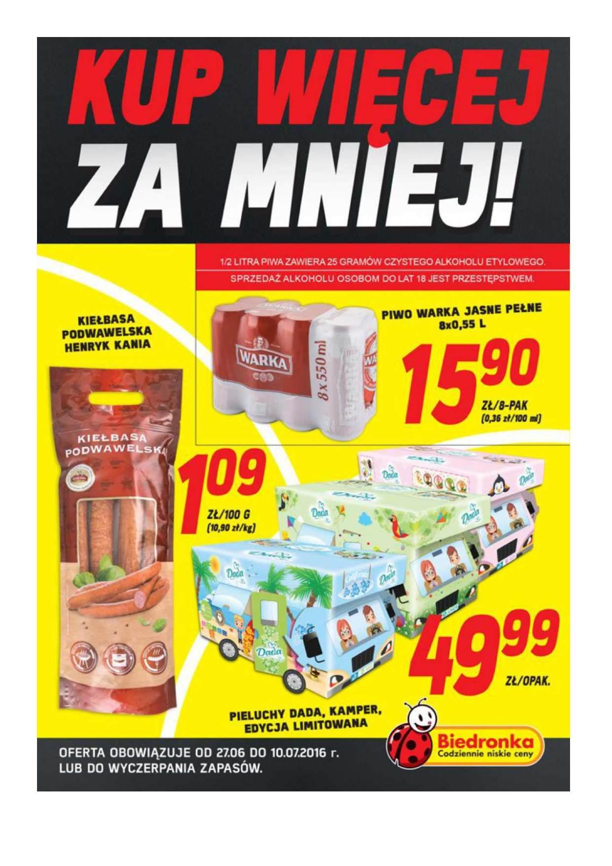 Gazetka promocyjna Biedronka do 10/07/2016 str.0