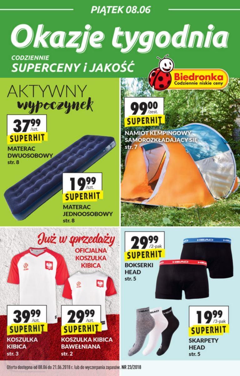 Gazetka promocyjna Biedronka do 21/06/2018 str.0