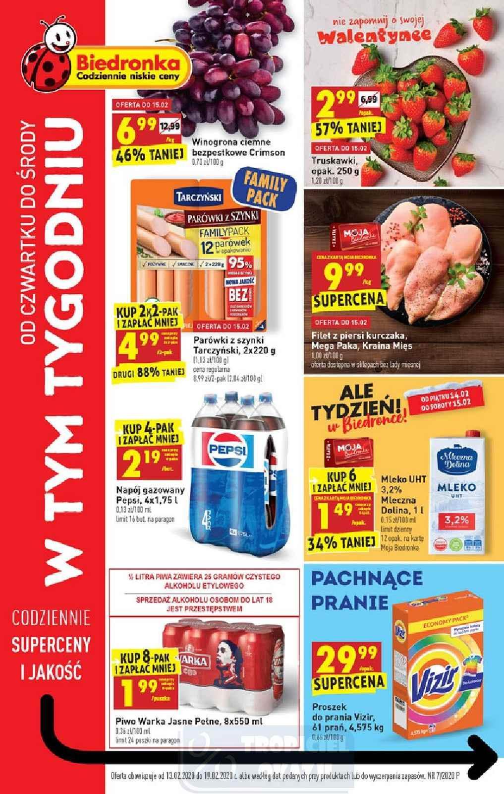 Gazetka promocyjna Biedronka do 19/02/2020 str.1
