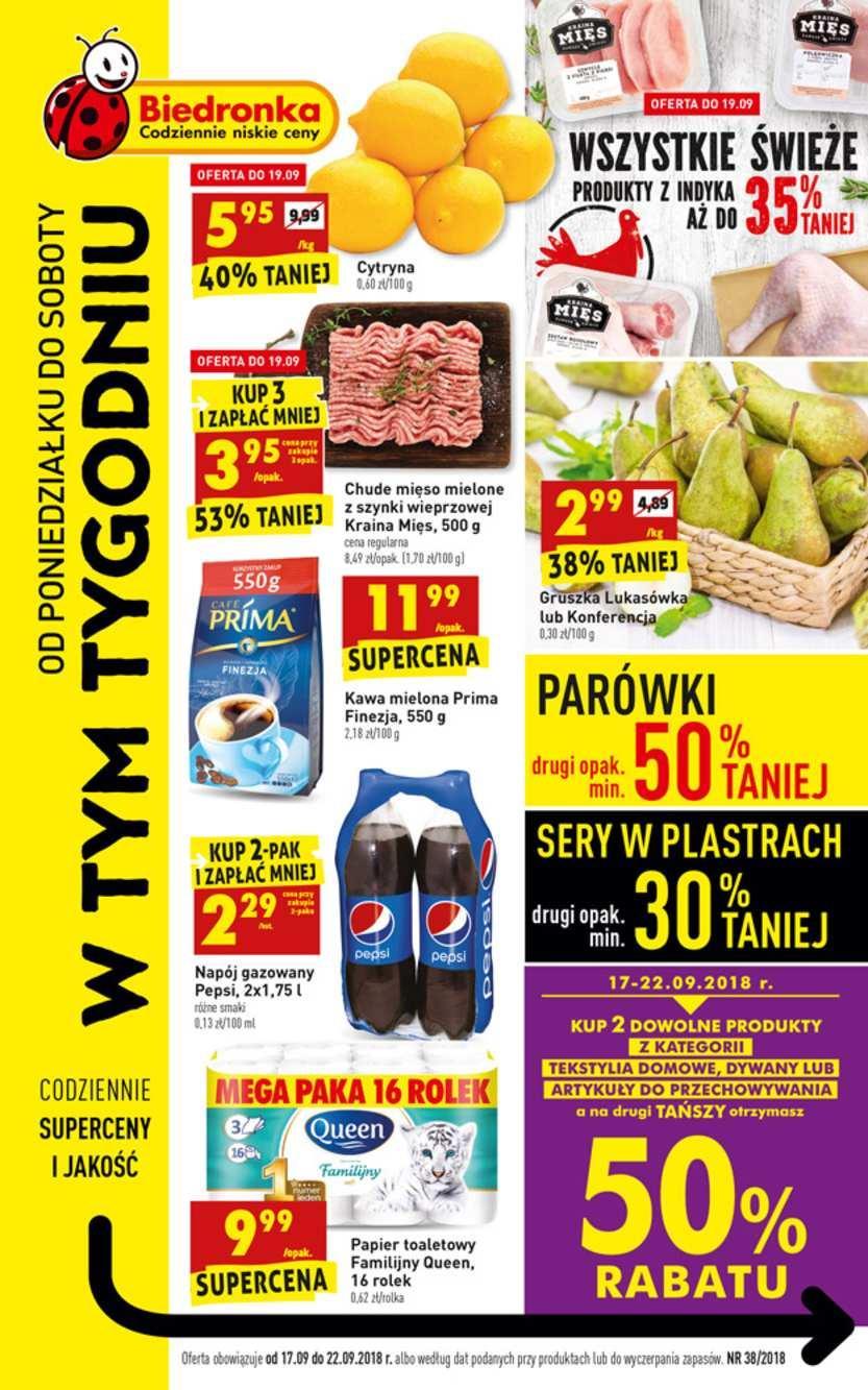 Gazetka promocyjna Biedronka do 22/09/2018 str.1
