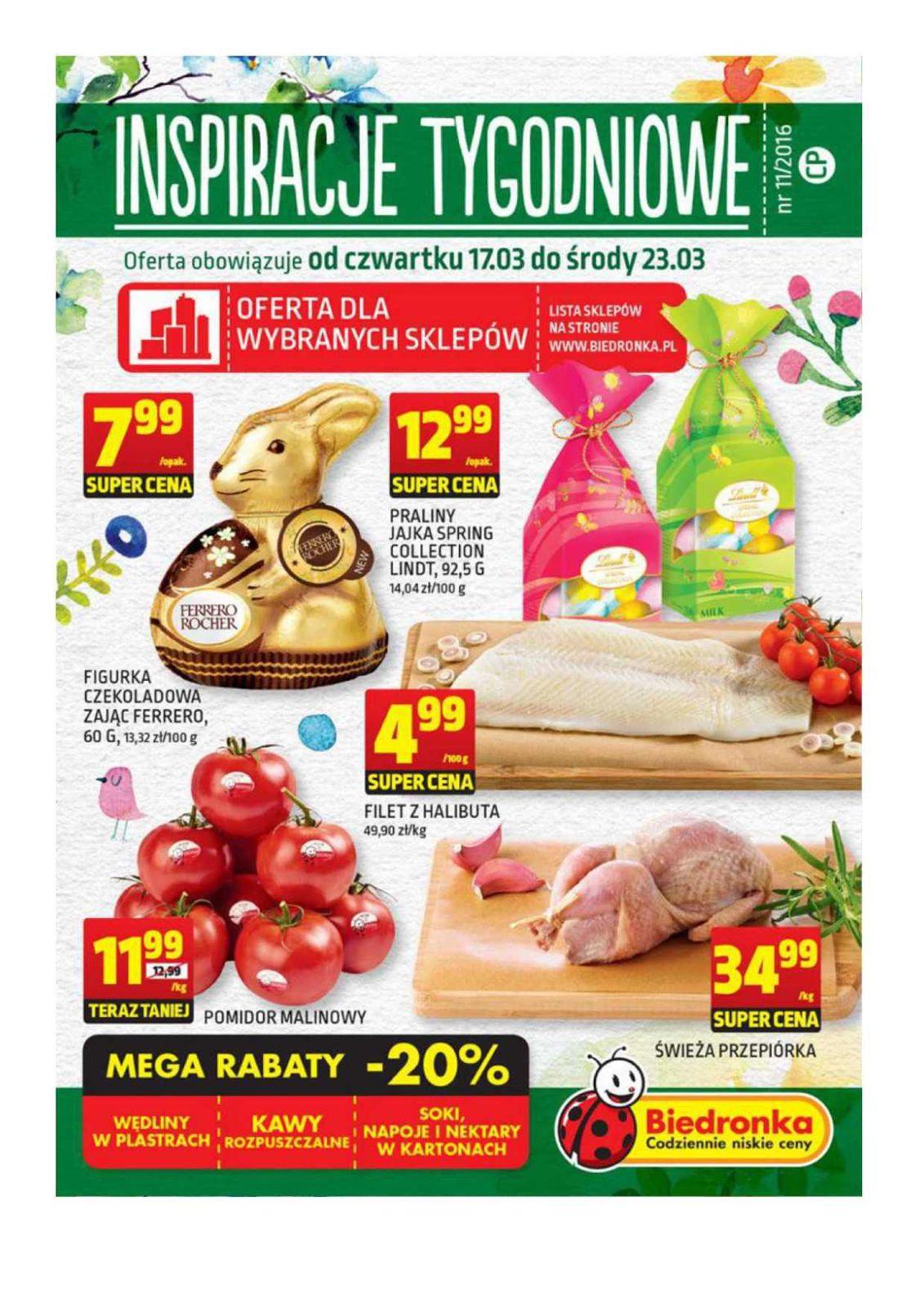 Gazetka promocyjna Biedronka do 23/03/2016 str.0