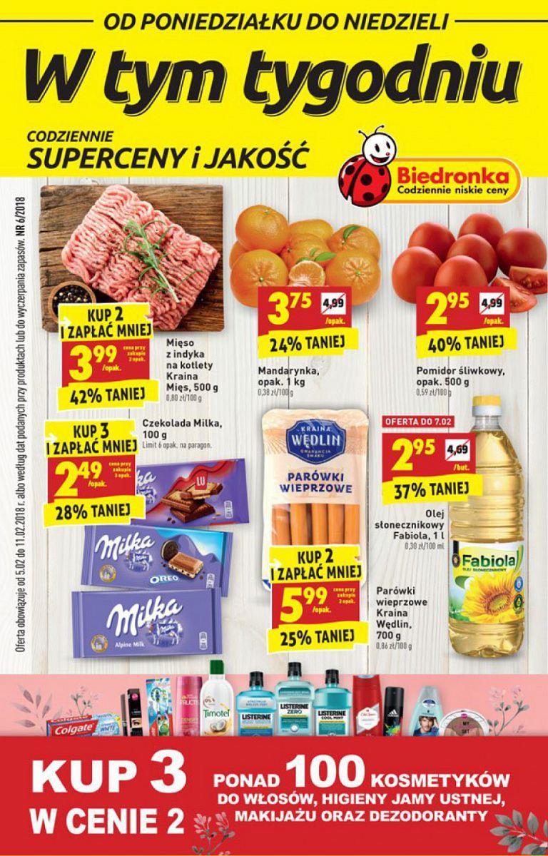 Gazetka promocyjna Biedronka do 11/02/2018 str.0